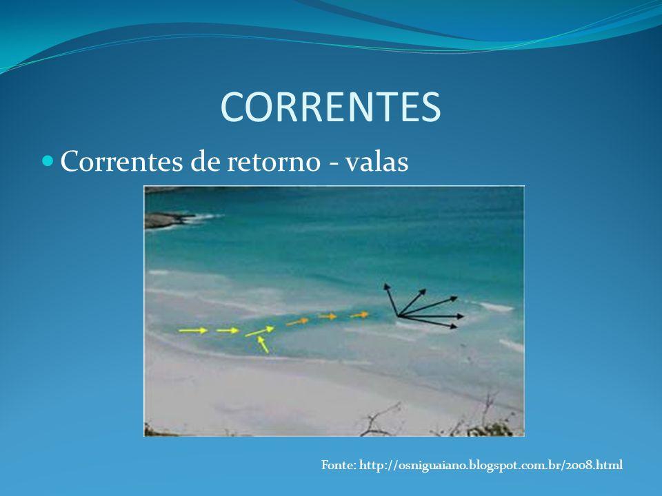 CORRENTES Correntes de retorno - valas Fonte: http://osniguaiano.blogspot.com.br/2008.html