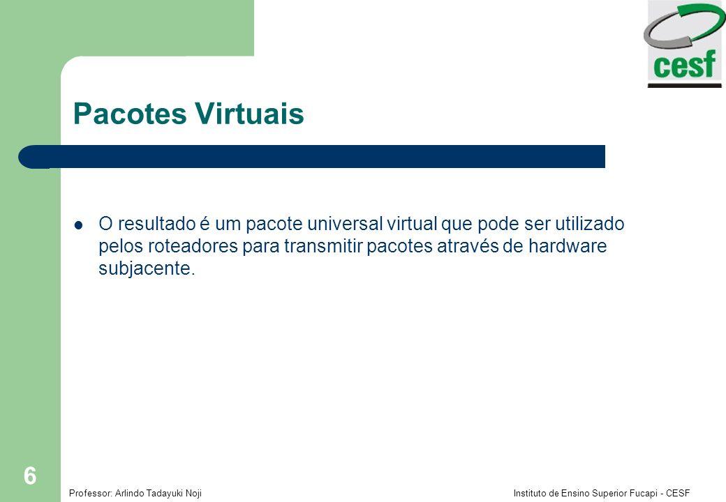 Professor: Arlindo Tadayuki Noji Instituto de Ensino Superior Fucapi - CESF 6 Pacotes Virtuais O resultado é um pacote universal virtual que pode ser
