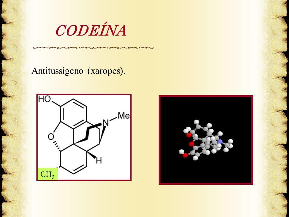 CODEÍNA Antitussígeno (xaropes). CH 3