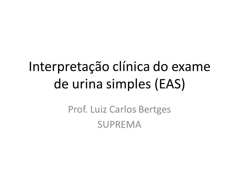 Interpretação clínica do exame de urina simples (EAS) Prof. Luiz Carlos Bertges SUPREMA