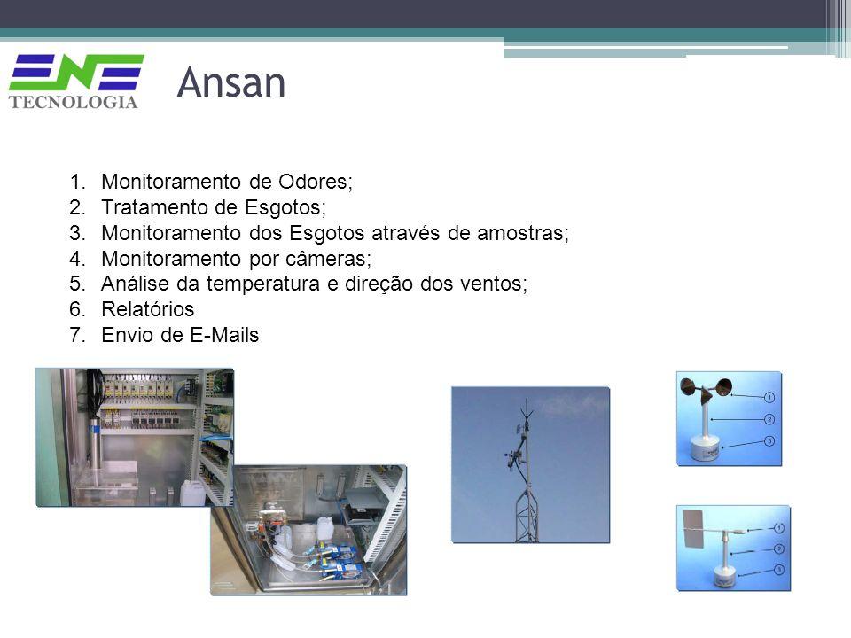 1.Monitoramento de Odores; 2.Tratamento de Esgotos; 3.Monitoramento dos Esgotos através de amostras; 4.Monitoramento por câmeras; 5.Análise da tempera
