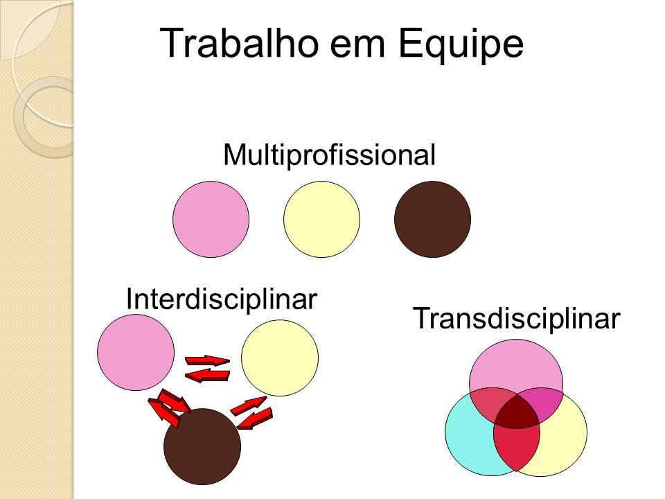 Multiprofissional Interdisciplinar Transdisciplinar Trabalho em Equipe