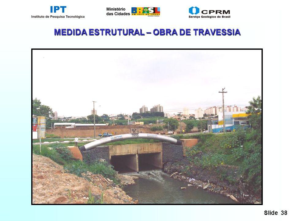 Slide 38 MEDIDA ESTRUTURAL – OBRA DE TRAVESSIA