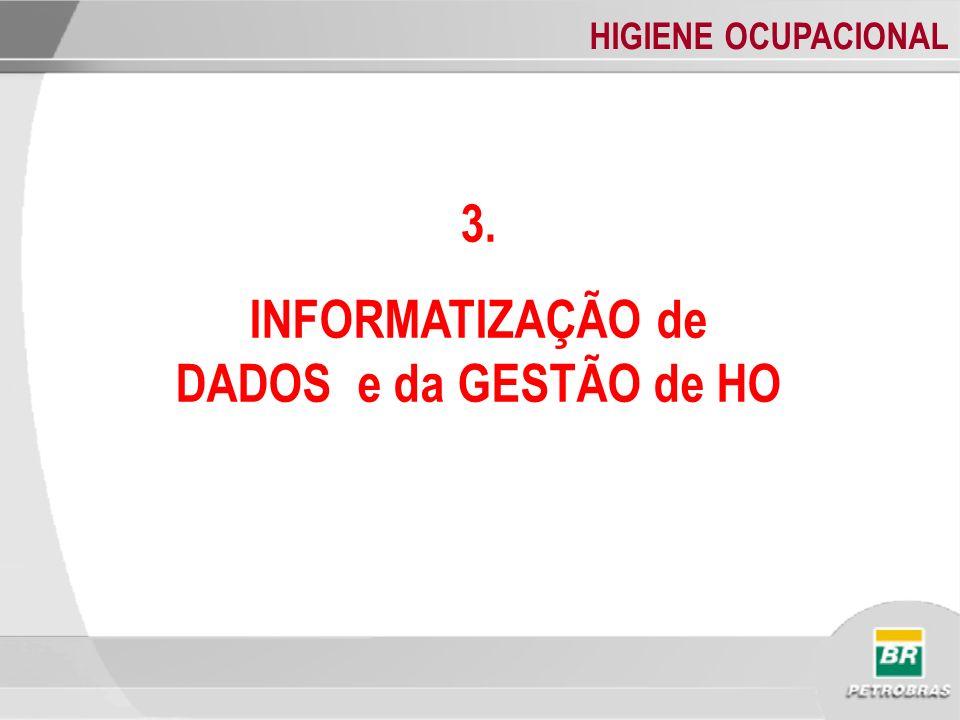HIGIENE OCUPACIONAL 3. INFORMATIZAÇÃO de DADOS e da GESTÃO de HO