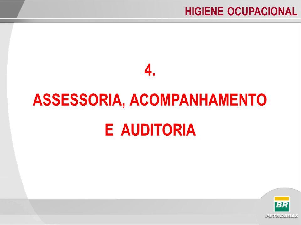 HIGIENE OCUPACIONAL 4. ASSESSORIA, ACOMPANHAMENTO E AUDITORIA
