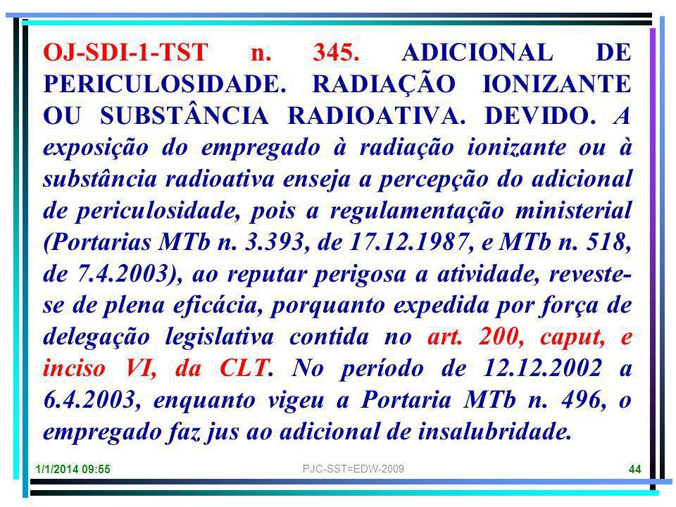 1/1/2014 09:57 PJC-SST=EDW-2009 43 Portaria MTE n. 518, de 4.4.2003 (Revoga a Portaria MTE n. 496, de 11.12.2002, que havia revogado a Portaria MTE n.