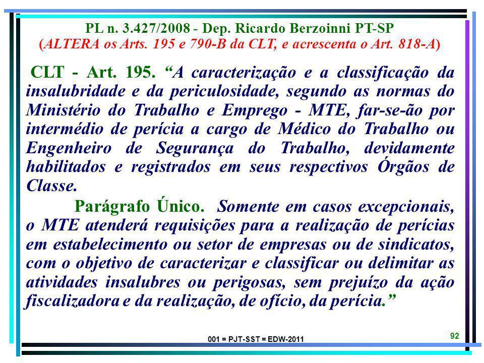 001 = PJT-SST = EDW-2011 91 ANTE-PROJETO DE LEI DA ANAMATRA