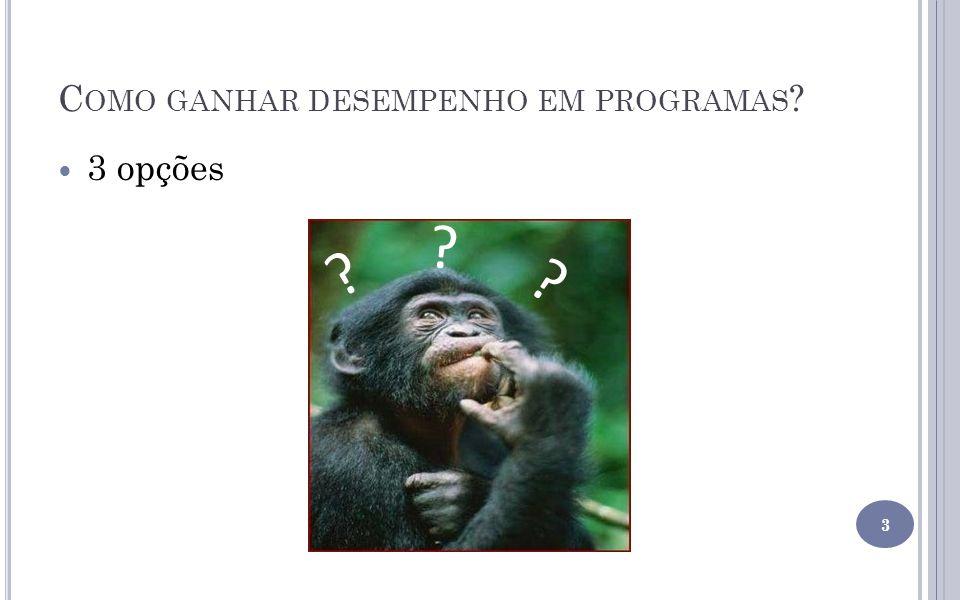 C OMO GANHAR DESEMPENHO EM PROGRAMAS .1.