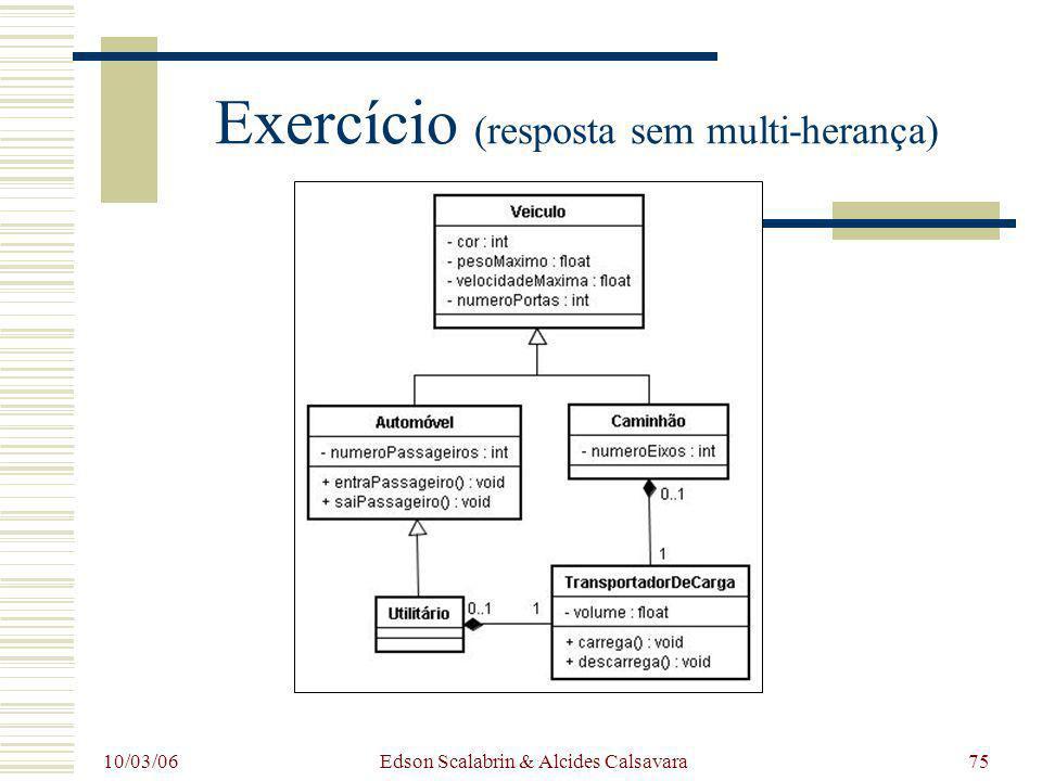 10/03/06 Edson Scalabrin & Alcides Calsavara75 Exercício (resposta sem multi-herança)