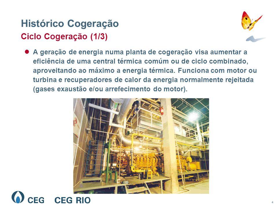 4 A geração de energia numa planta de cogeração visa aumentar a eficiência de uma central térmica comúm ou de ciclo combinado, aproveitando ao máximo