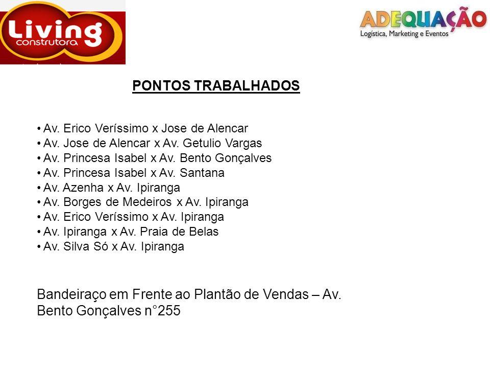 PONTOS TRABALHADOS Av. Erico Veríssimo x Jose de Alencar Av.