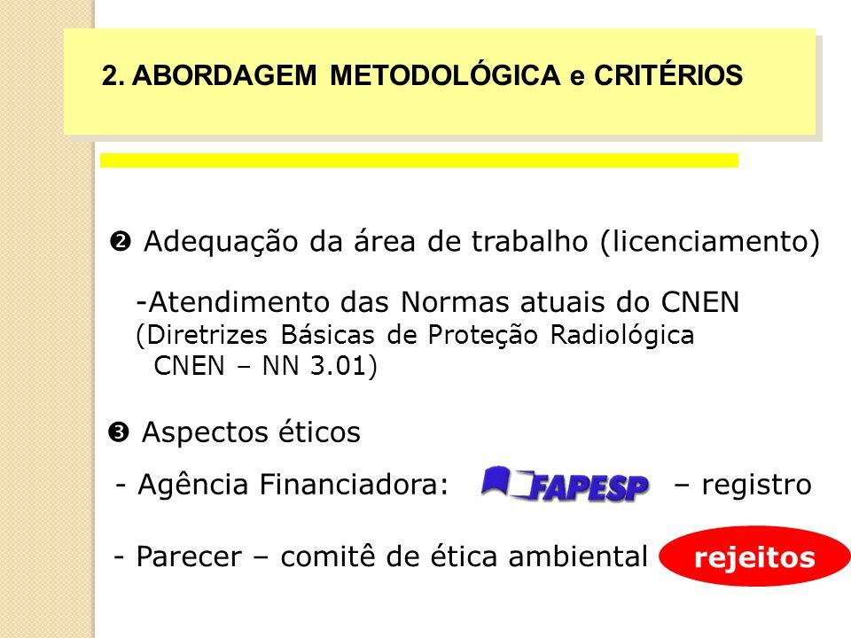 Adequação da área de trabalho (licenciamento) -Atendimento das Normas atuais do CNEN (Diretrizes Básicas de Proteção Radiológica CNEN – NN 3.01) - Agê
