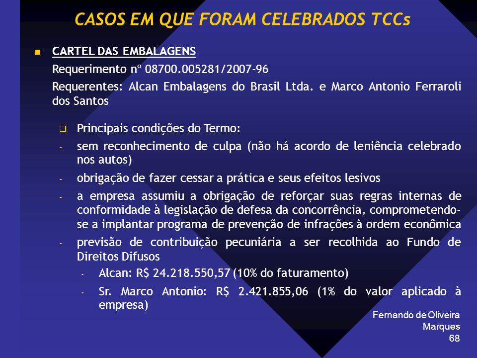 Fernando de Oliveira Marques 68 CARTEL DAS EMBALAGENS Requerimento nº 08700.005281/2007-96 Requerentes: Alcan Embalagens do Brasil Ltda. e Marco Anton