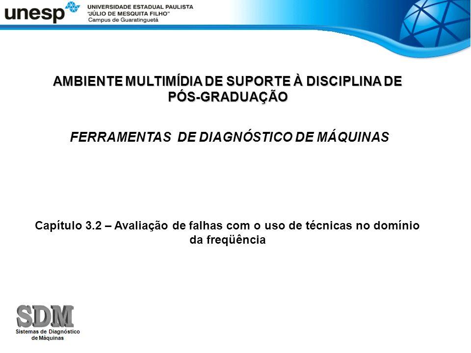 AMBIENTE MULTIMÍDIA DE SUPORTE À DISCIPLINA DE PÓS-GRADUAÇÃO FERRAMENTAS DE DIAGNÓSTICO DE MÁQUINAS Capítulo 3.2 – Avaliação de falhas com o uso de té