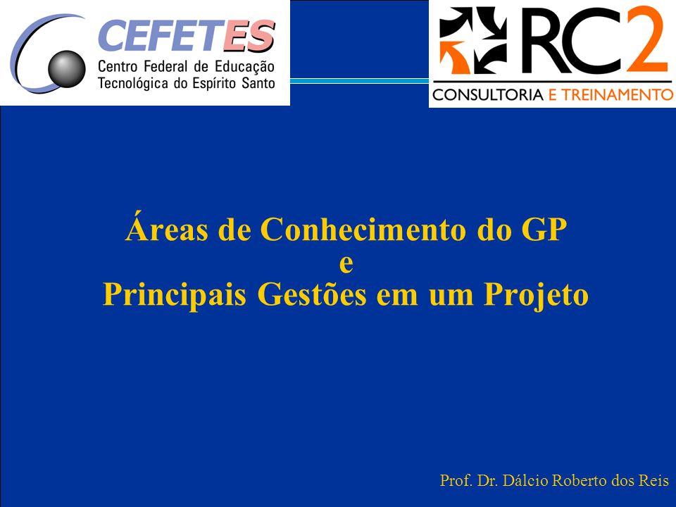 Áreas de Conhecimento do GP e Principais Gestões em um Projeto Prof. Dr. Dálcio Roberto dos Reis