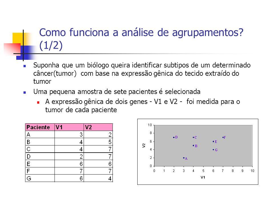 Como funciona a análise de agrupamentos.