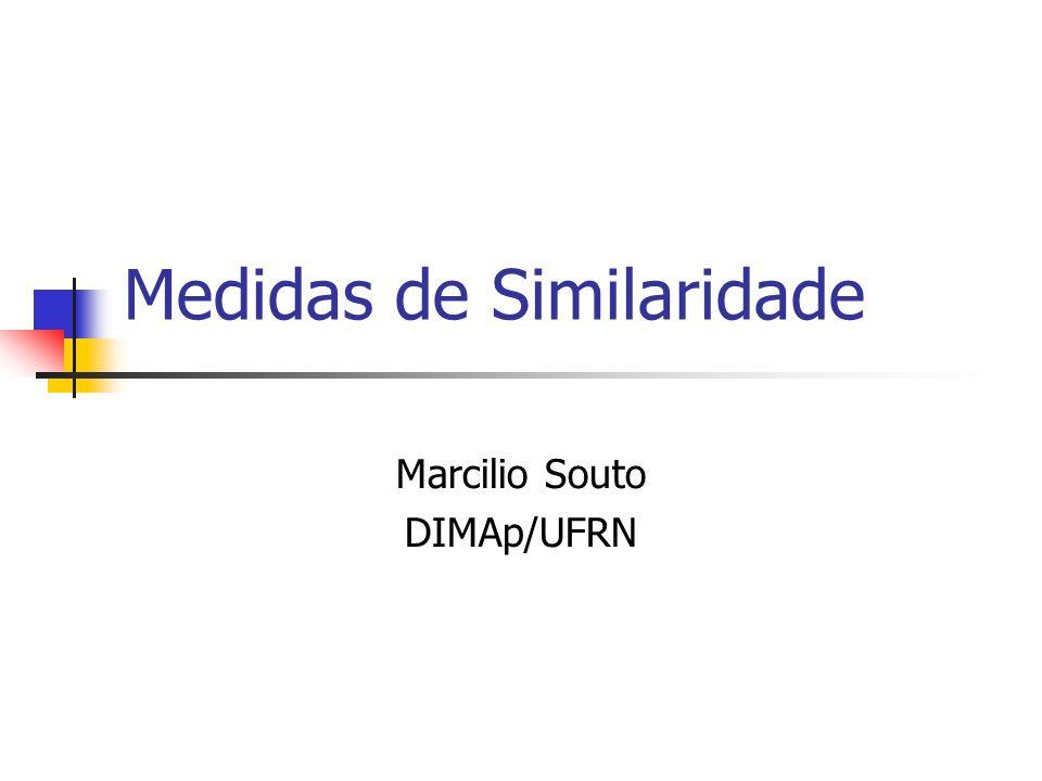 Medidas de Similaridade Marcilio Souto DIMAp/UFRN