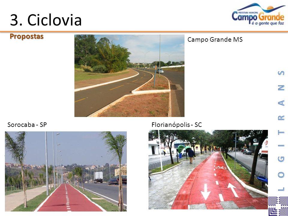 3. CicloviaPropostas Sorocaba - SPFlorianópolis - SC Campo Grande MS