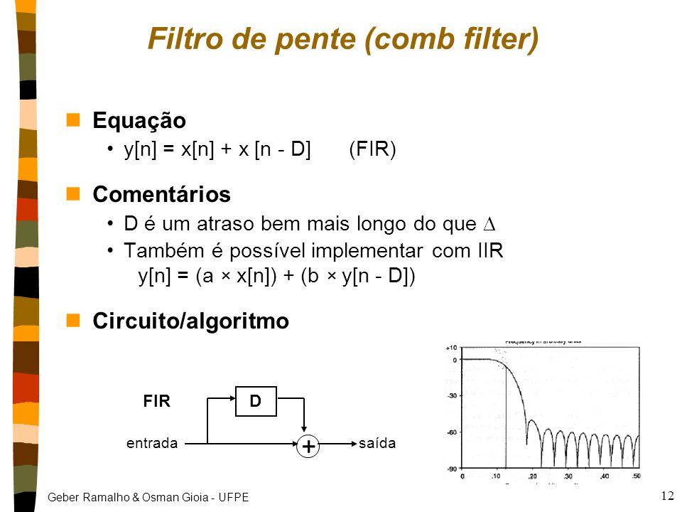 Geber Ramalho & Osman Gioia - UFPE 11 FIR x IIR