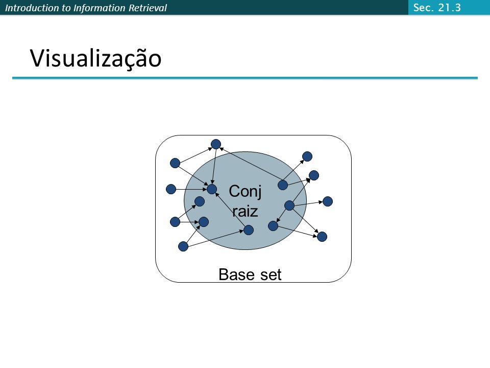 Introduction to Information Retrieval Base set Atendendo a consulta de texto (say browser), utilização de um indice de texto para obter todas as págin