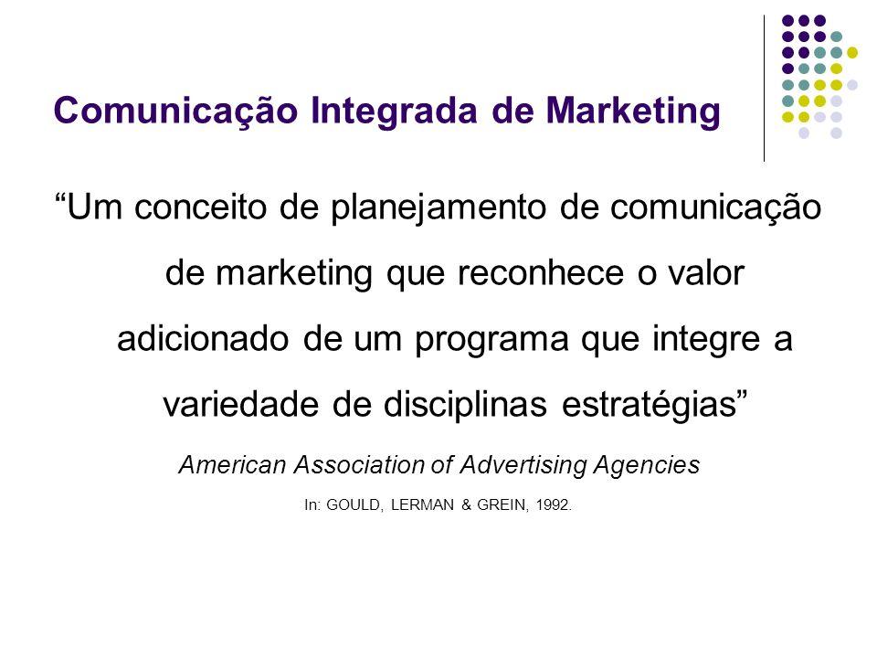 Um conceito de planejamento de comunicação de marketing que reconhece o valor adicionado de um programa que integre a variedade de disciplinas estraté