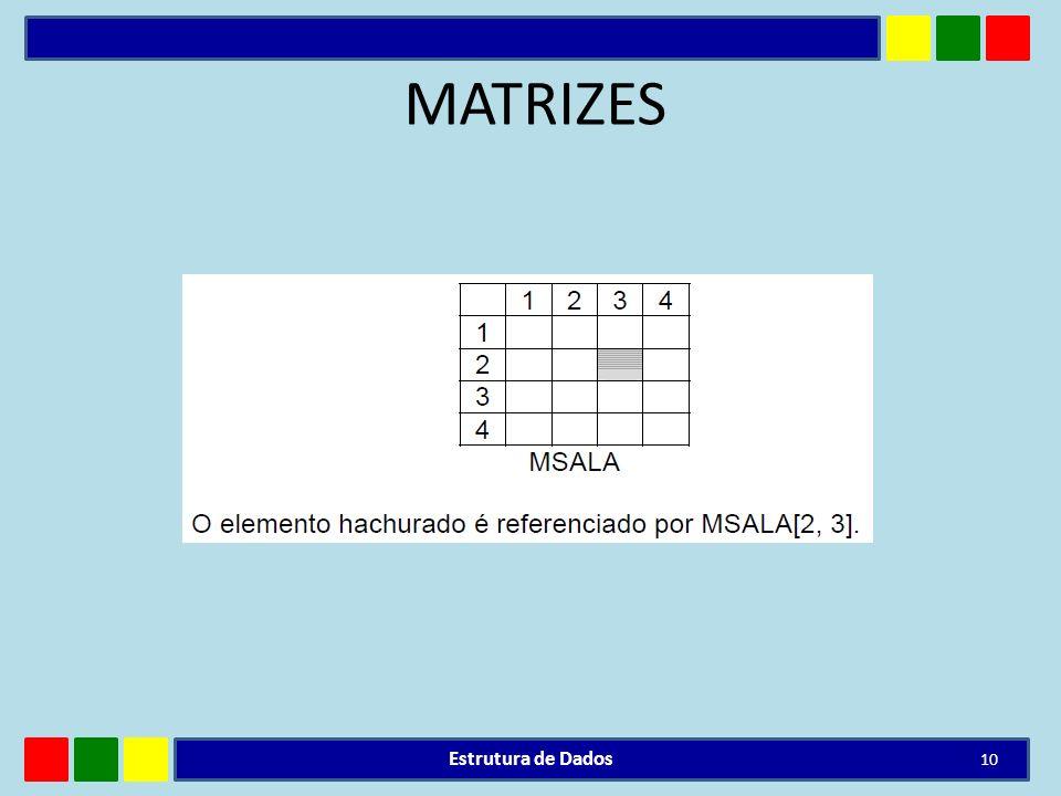 MATRIZES Estrutura de Dados 10