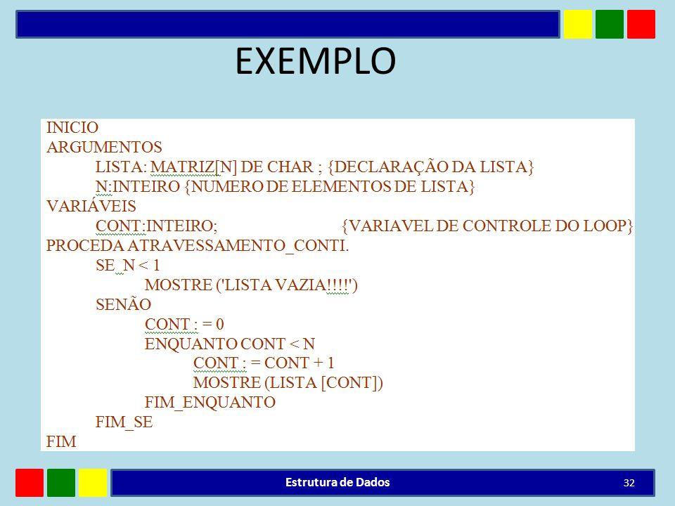 EXEMPLO Estrutura de Dados 32
