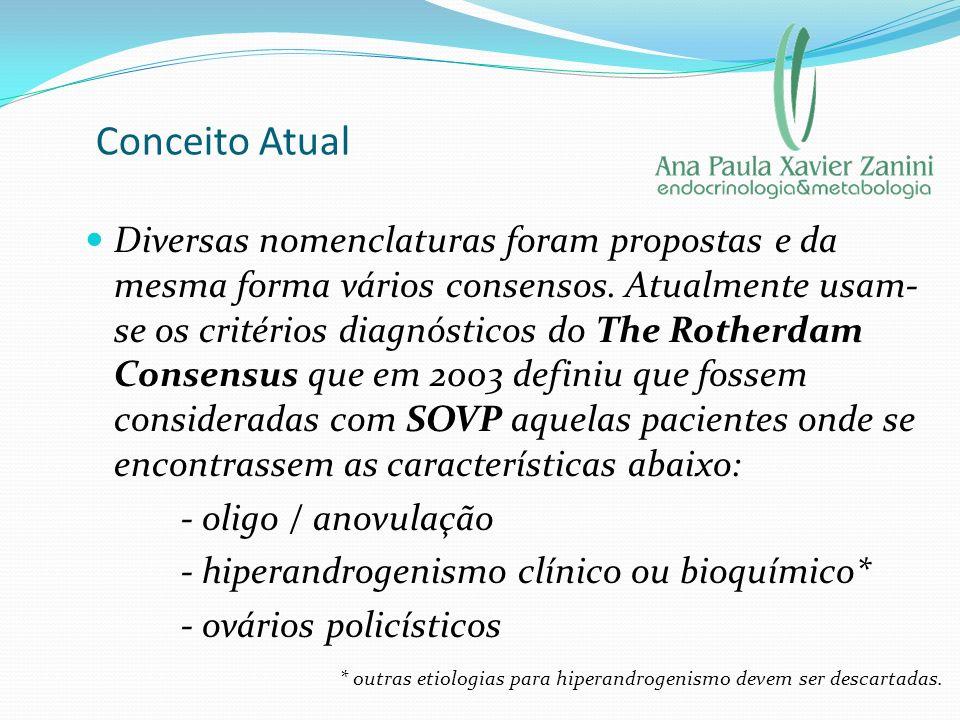 Conceito Atual Diversas nomenclaturas foram propostas e da mesma forma vários consensos. Atualmente usam- se os critérios diagnósticos do The Rotherda