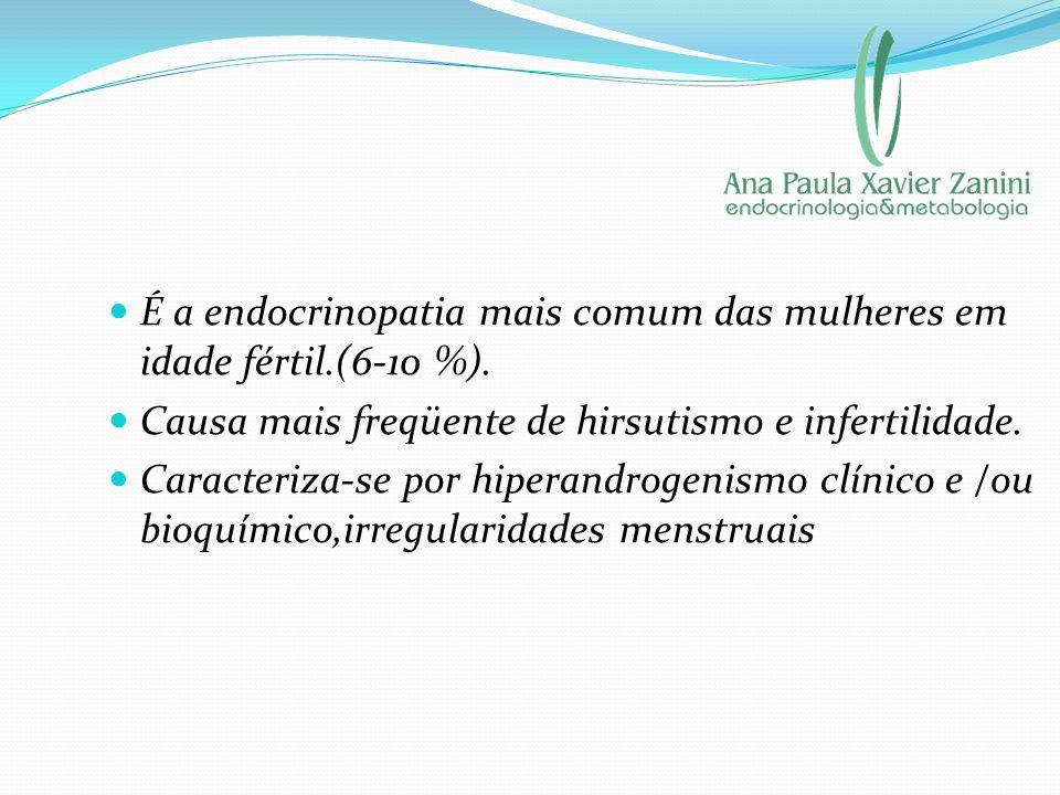 É a endocrinopatia mais comum das mulheres em idade fértil.(6-10 %). Causa mais freqüente de hirsutismo e infertilidade. Caracteriza-se por hiperandro
