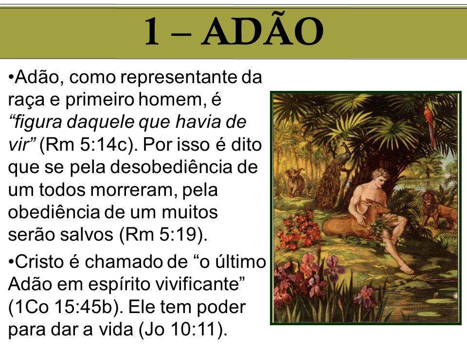 Adão, como representante da raça e primeiro homem, é figura daquele que havia de vir (Rm 5:14c). Por isso é dito que se pela desobediência de um todos