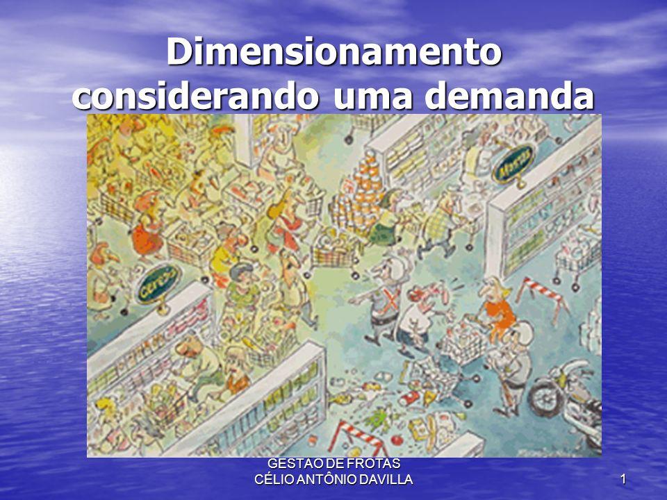 GESTÃO DE FROTAS CÉLIO ANTÔNIO DAVILLA1 Dimensionamento considerando uma demanda