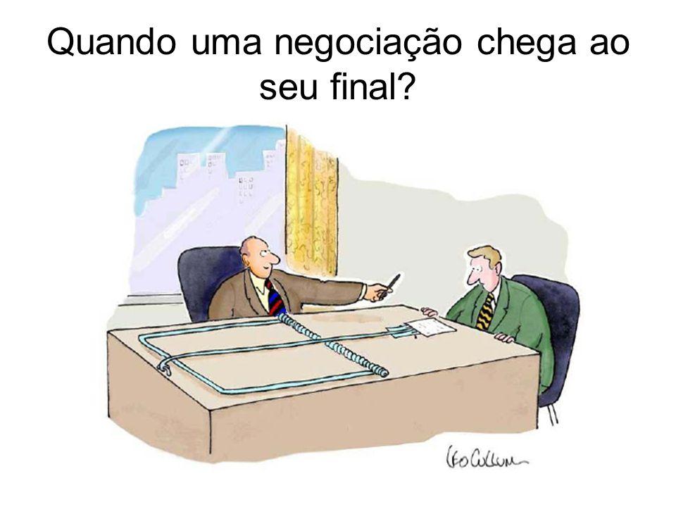 Quando uma negociação chega ao seu final?