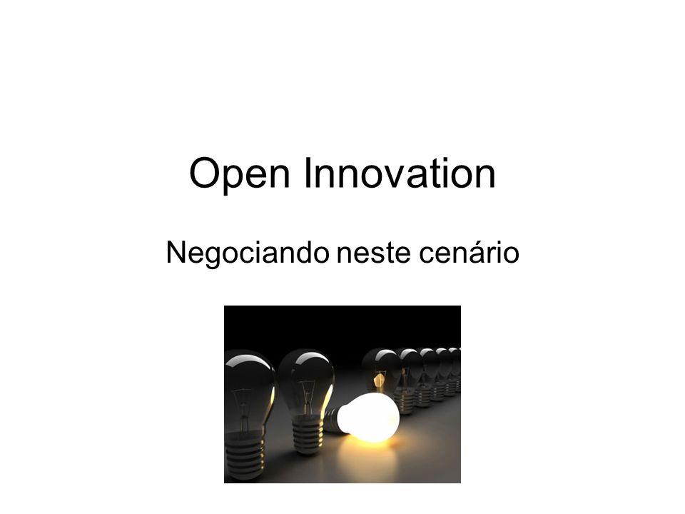 Open Innovation Negociando neste cenário