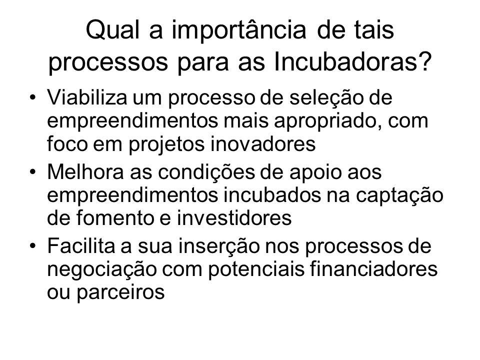 Qual a importância de tais processos para as empresas.