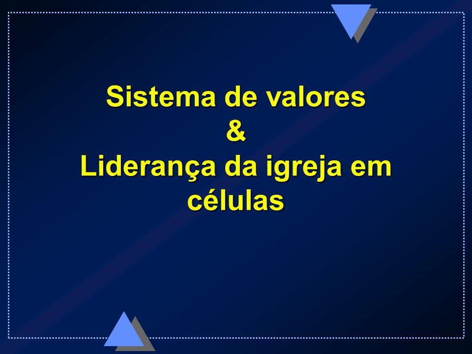 Sistema de valores - Exemplos Liderança empresarial Excelência operacional Intimidade com o cliente César Castellanos Larry Stockstill