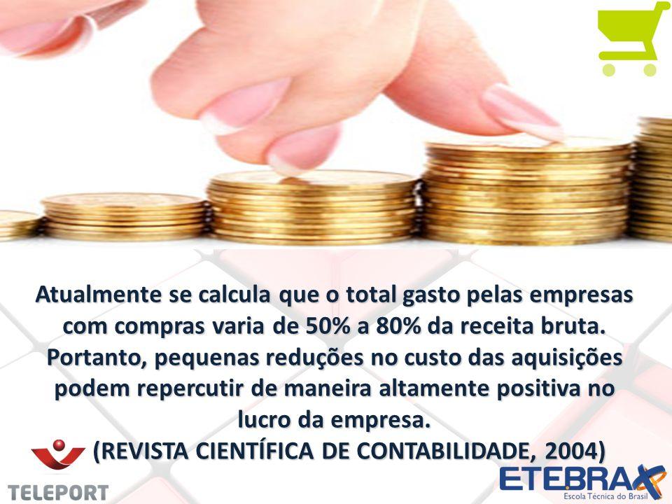 Atualmente se calcula que o total gasto pelas empresas com compras varia de 50% a 80% da receita bruta. Portanto, pequenas reduções no custo das aquis