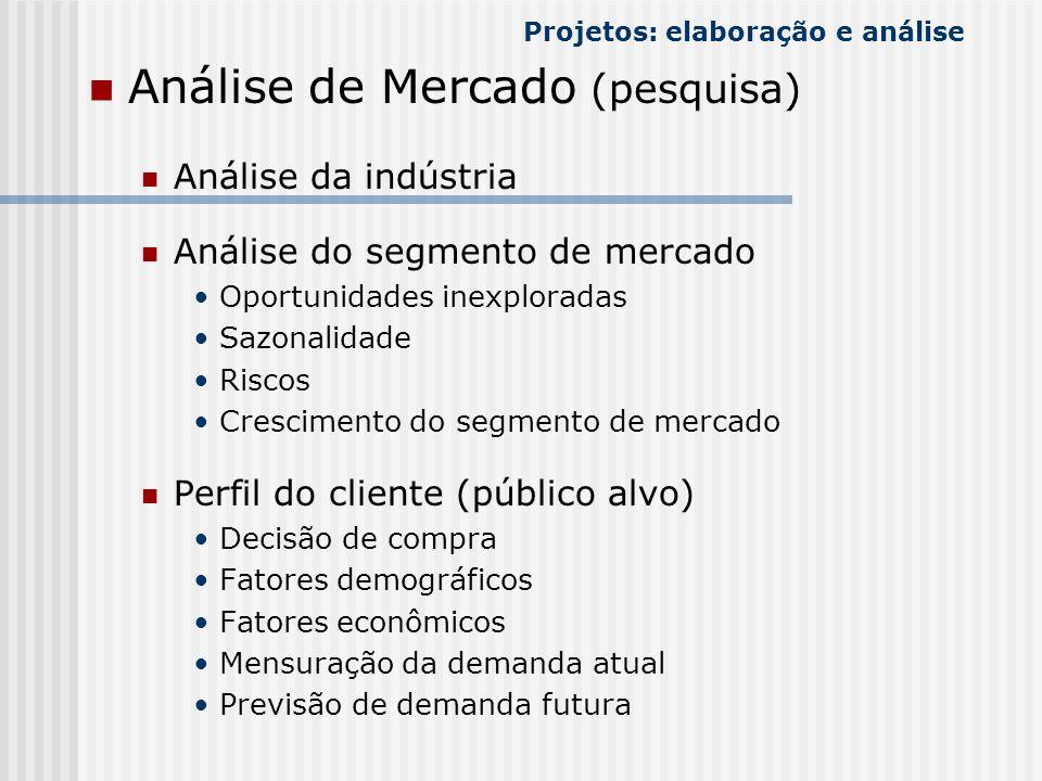 Análise de Mercado (pesquisa) Análise da indústria Análise do segmento de mercado Oportunidades inexploradas Sazonalidade Riscos Crescimento do segmen