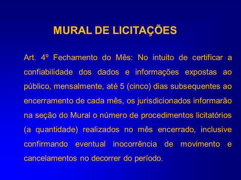 MURAL DE LICITAÇÕES Licitações a serem catalogados no Mural III- processos de inexigibilidade de licitação: Nome da entidade executora Número e ano do