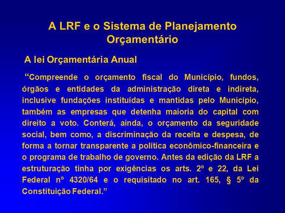 LOA – LEI ORÇAMENTÁRIA ANUAL Art.165 CF e 5º LRF JR