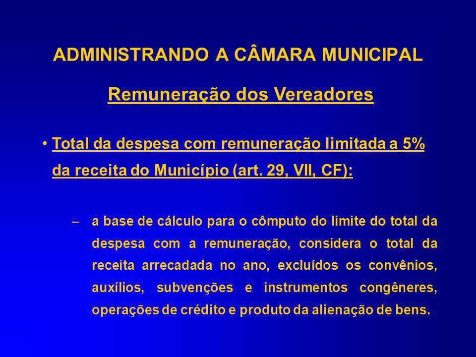 Art. 29 – Constituição Federal IV – Composição das Câmaras – EC 58/2009 (Próxima Legislatura) V – Fixação Subsídios Prefeito, Vice e Secretários VI –