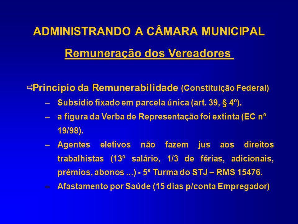 O Referencial máximo em valor para limitar o subsídio individual dos Vereadores / Presidente tem TETO do subsídio do Prefeito Municipal, art. 37, XI,