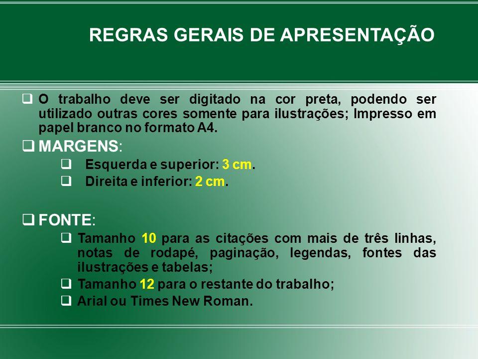 Autor(es); Título; Expressão: Disponível em: Endereço eletrônico Expressão: Acesso em: Data de acesso Ex.: AVES do Amapá: banco de dados.