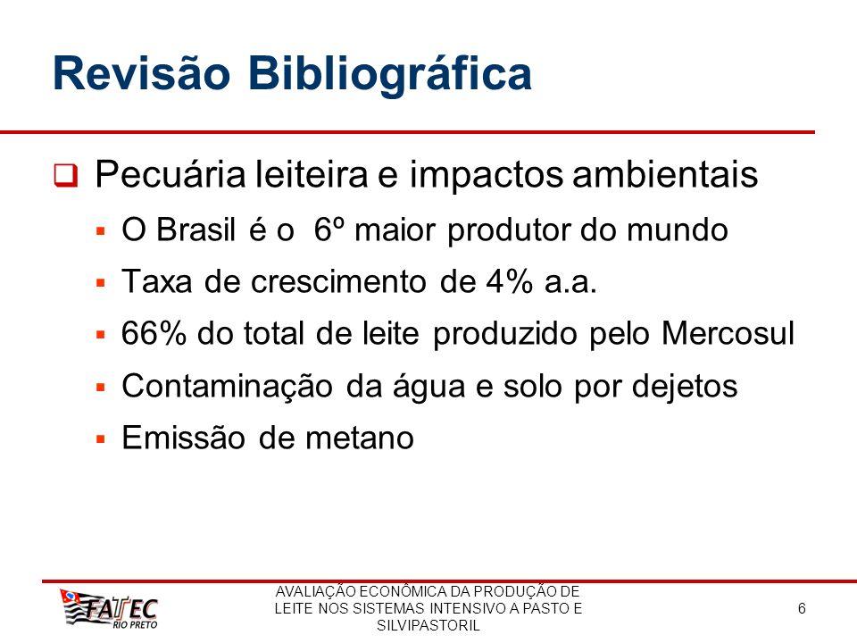 AVALIAÇÃO ECONÔMICA DA PRODUÇÃO DE LEITE NOS SISTEMAS INTENSIVO A PASTO E SILVIPASTORIL 6 Revisão Bibliográfica Pecuária leiteira e impactos ambientai
