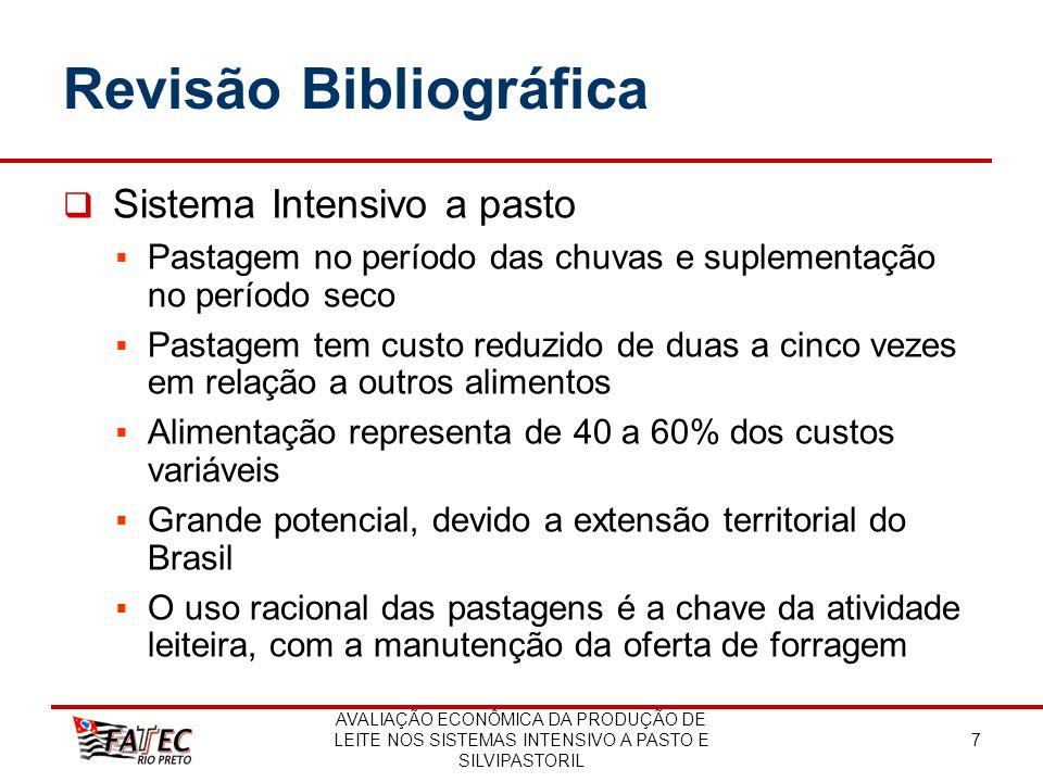 AVALIAÇÃO ECONÔMICA DA PRODUÇÃO DE LEITE NOS SISTEMAS INTENSIVO A PASTO E SILVIPASTORIL 8 Revisão Bibliográfica Sistemas Agroflorestais (SAFs) Estudos acadêmicos a partir da déc.
