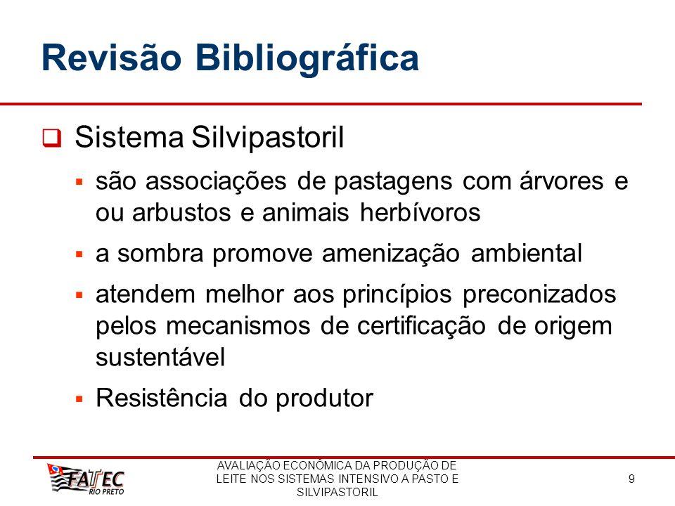 AVALIAÇÃO ECONÔMICA DA PRODUÇÃO DE LEITE NOS SISTEMAS INTENSIVO A PASTO E SILVIPASTORIL 9 Revisão Bibliográfica Sistema Silvipastoril são associações