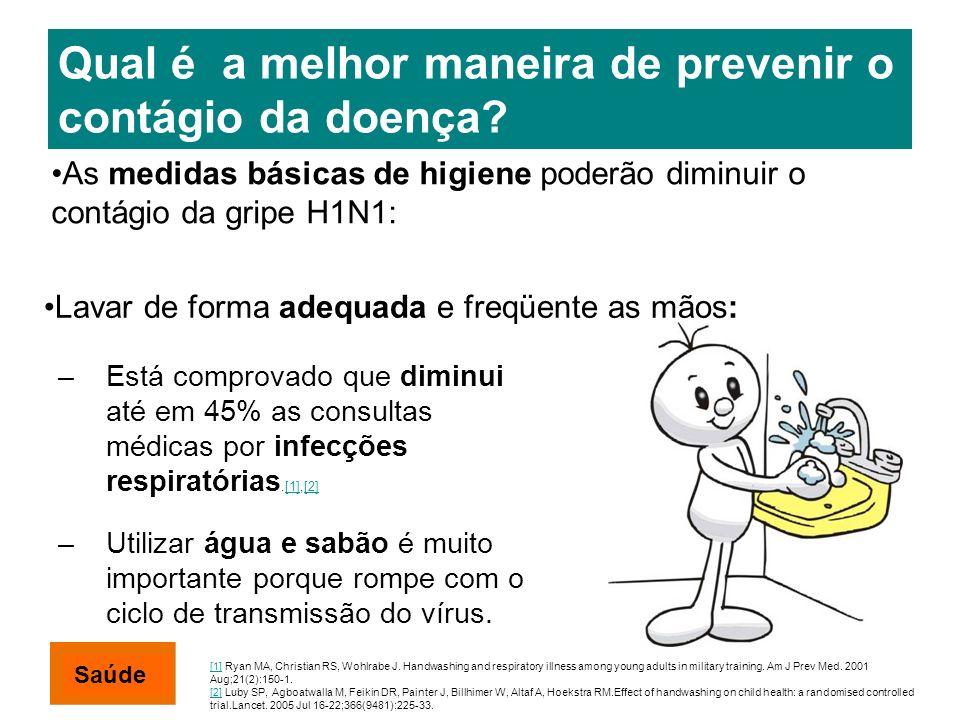 Qual é a melhor maneira de prevenir o contágio da doença? –Está comprovado que diminui até em 45% as consultas médicas por infecções respiratórias.[1]
