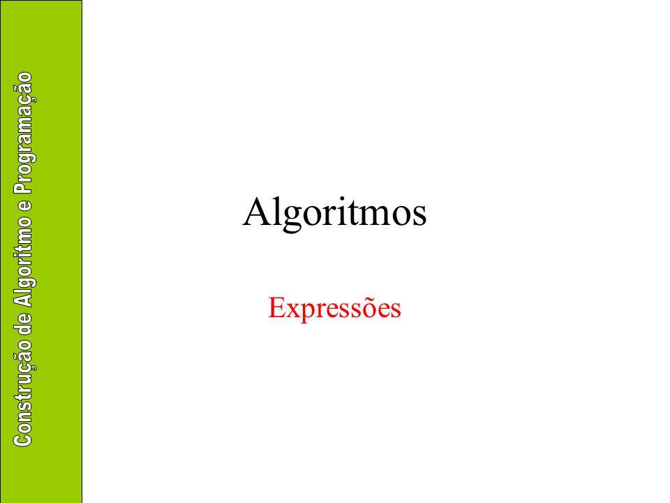 Algoritmos Expressões