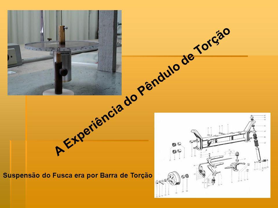 A Experiência do Pêndulo de Torção Suspensão do Fusca era por Barra de Torção