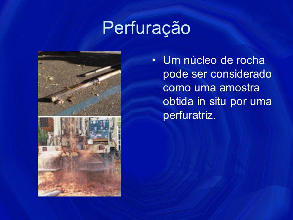 Dinamica do sistema de percussão A velocidade de penetração da broca é diretamente proporcional à quantidade de rocha efetivamente demolida dentro do furo na unidade de tempo.