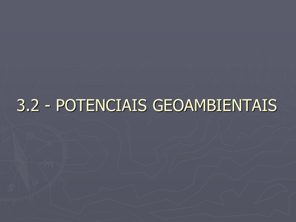 3.2 - POTENCIAIS GEOAMBIENTAIS